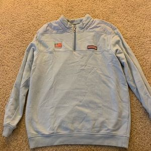 Vineyard Vines Chicago light blue quarter zip